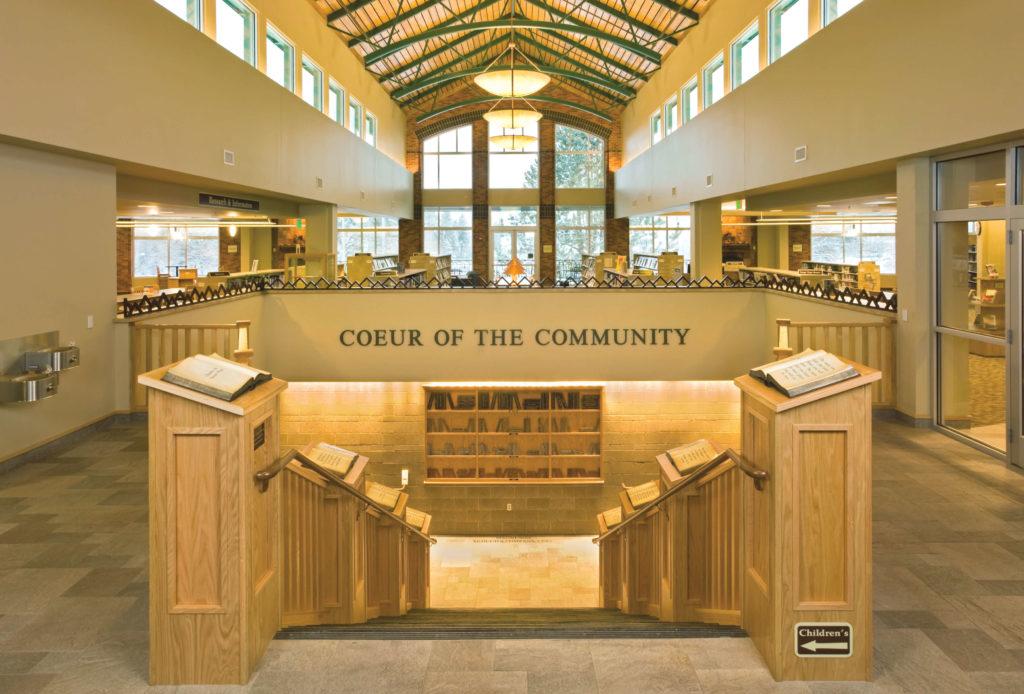 A Coeur d'Alene-i közkönyvtár Idahóban